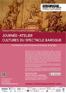 Festival 2014 - Affiche Cultures du spectacle baroque - copie