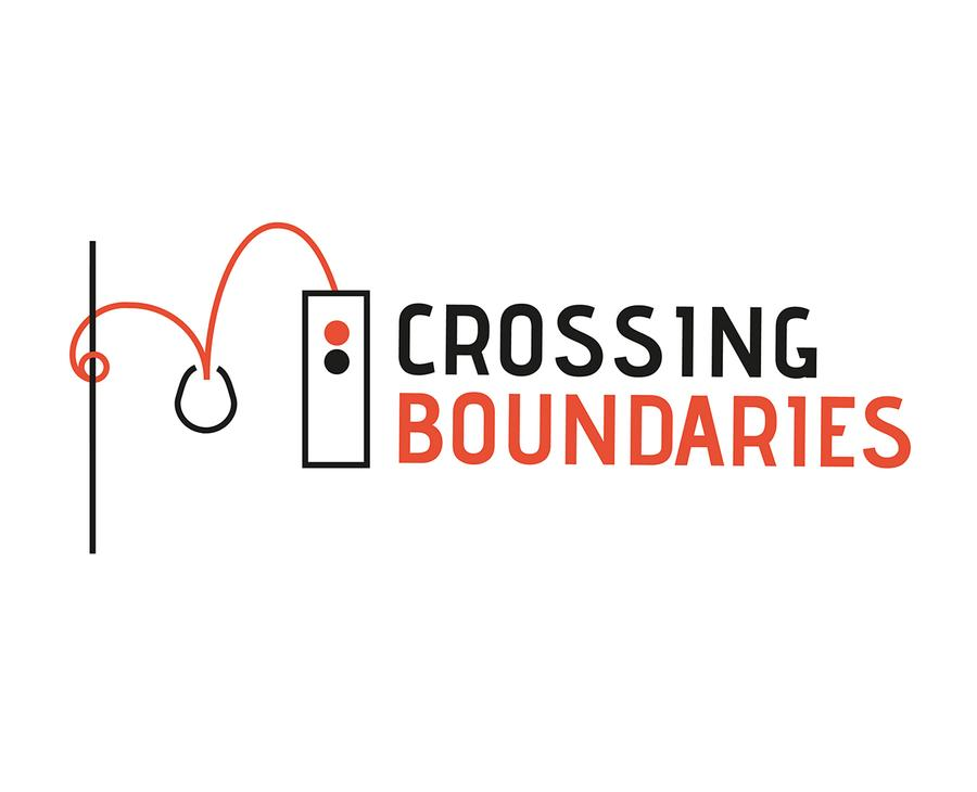 Crossing Boundaries - Logo (red/white/black)